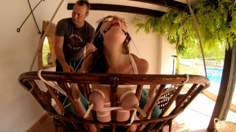 Bondage On The Cork Chair - HD 720p