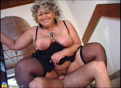 big tit mature placida fucked by young guy