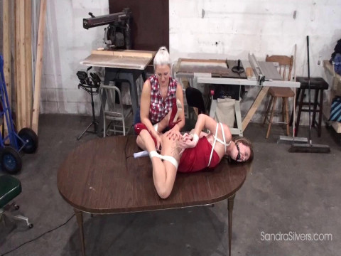 Lesbian Contractor gives Bondage Orgasm to MOTHER ID LIKE TO FUCK