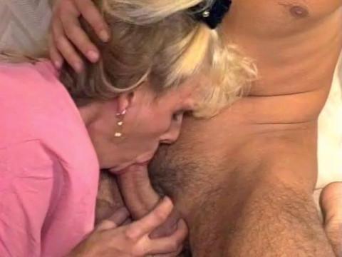 Blond bitch loves it hard