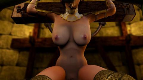 Queen swallows sperm monster