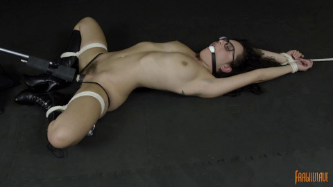 Glasses, Boots, Bondage And Orgasms