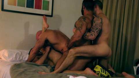 Motel Muscle Four Way (720p)