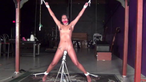 Super tying, strappado and pain for very hawt latin babe beauty HD 1080p