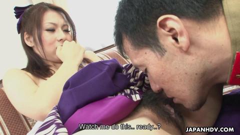 Kimono lady himeki kaede likes to masturbate