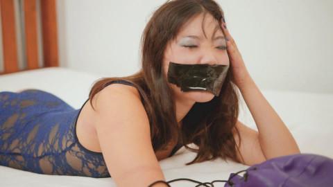 Restricted Senses - Lace Bodysuit & Purple Armbinder