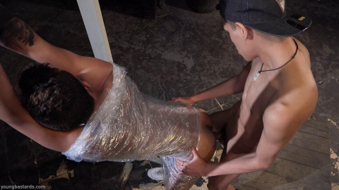 Tommy Ameal & Giorgio Angelo - Plastic Wrapped And Pumped With Cock