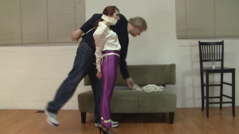 Gianna Love - Purple Disco Jeans High Heel Training