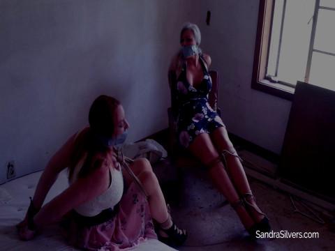 Nabbed Buxom MILFs Bound & Gagged in Abandoned Motel!