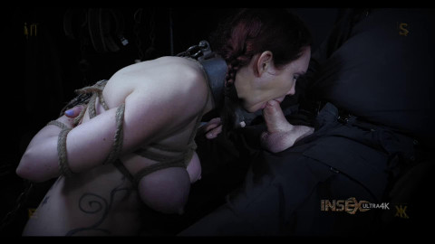 Hard restraint bondage, strappado and torment for hawt wench part 3
