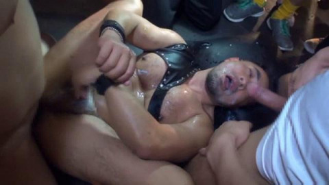 Dominate Gangbang Party With Asian Guys