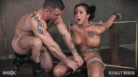 Lily lane is destroyed by a brutal face fucking, while being made to cum over and over!
