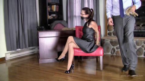 Nichole Skye - Jute Rope Bound in a Leather Dress