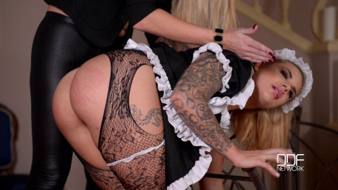 Maisie Rain And Kayla Green - Carpet Beater Humiliation
