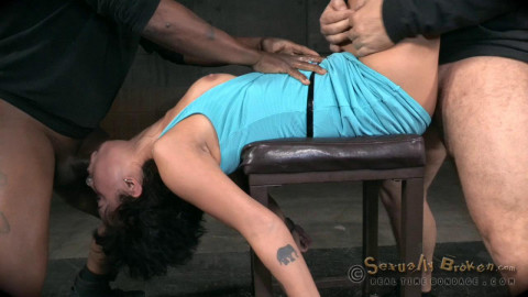 Mia Austin handcuffed and roughly fucked
