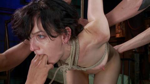 Fuckedandbound - 01-03-2014 - Masochistic Slut Gets Double Penetrated with Huge Cocks