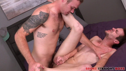 Broke Str8 Lads - Sexually excited Romeo James Raw Fucking Robb Davis