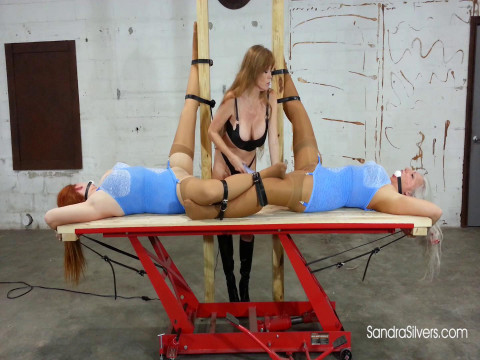 Two Buxom MOTHER ID LIKE TO FUCK Subs acquire Ballgagged Bondage Orgasms