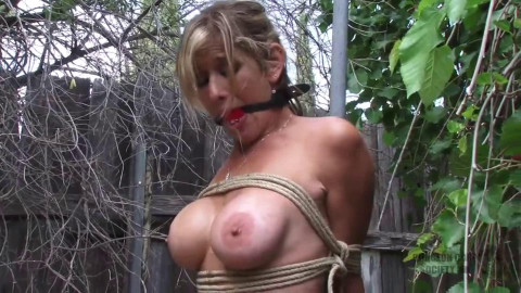 Constricted tying, strappado and spanking for hawt nude model Full HD 1080p
