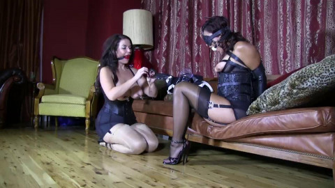 Torture and bondage for sexy the black girl