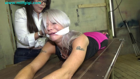 Bound foot caning & foot ache