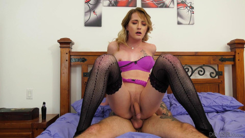 Beautiful TS Candy Marie Enjoys an Anal Reaming