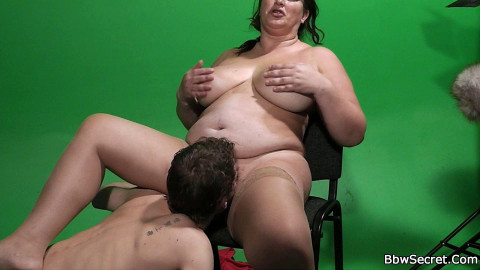 Doing a hot fattie right in the video studio