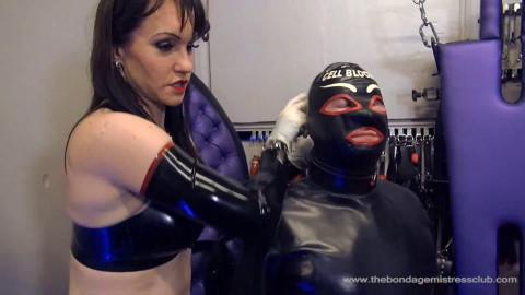 Super bondage, strappado and torture for beautiful bitch in latex