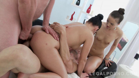 Kristy Black, Lucia Denville Lick And Toy Each Others Ass Before Anal Sex With Double Penetration