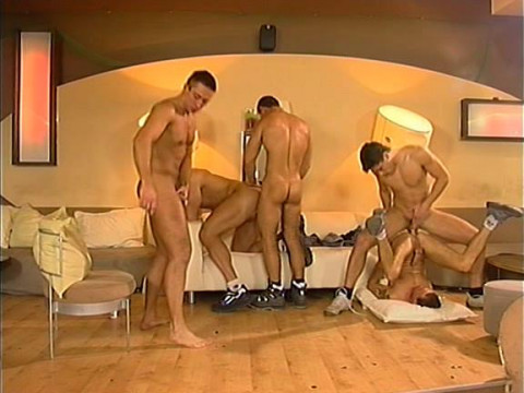Hot Firestarters Bareback With Group Fuck