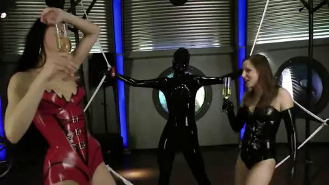 Tight bondage, domination and spanking for sexy girls in latex Full HD1080