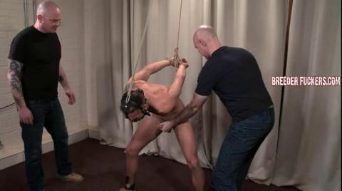 Leo - Bound, leg spreader, gagged, spanked