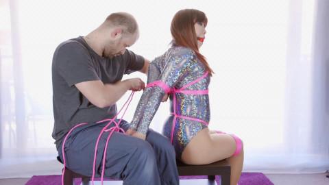 Mina Sparkly Bodysuit Hogtie Fail (2016)