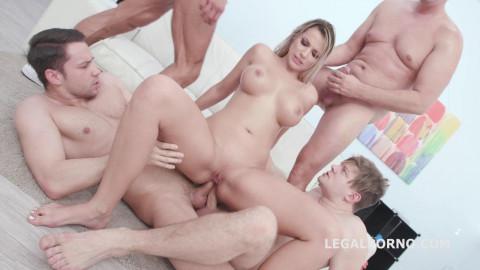 Busty Slut Jolee Love Gangbanged By 4 Cocks With Dap & Anal Fisting