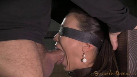 Kalina Ryu throatboarded into drooling deepthroat, massive sybian orgasms!