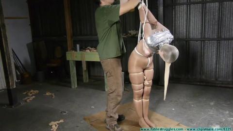 Rachel Encased in Pantyhose then a Mummified Strappado