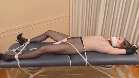Bondage, strappado and ache for very hawt gal part 1