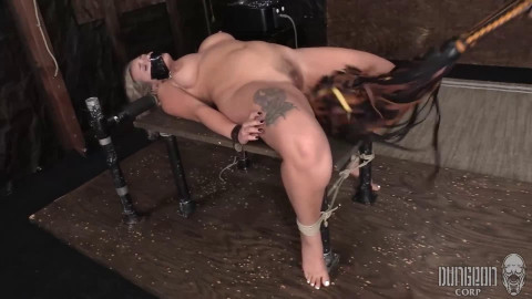 Hard restraint bondage, wrapping and castigation for very hawt blond part 2 Full HD 1080