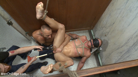 Scott Riley gets captured, edged and fucked by horny plumbers