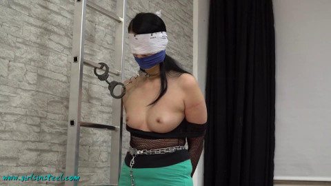 Girlsinsteel - May 20, 2017 - Nina wants to be cuffed in her new cuffs