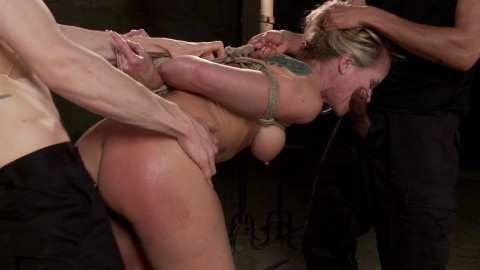 Fuckedandbound - 05-16-2014 - MILF Whore Stuffed with 2 Huge Cocks