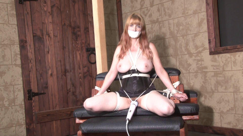 Bound and Gagged - Dungeon Strappado and Orgasm for Lorelei