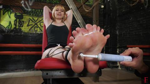 HD Power exchange Sex Episodes Intensive tickling her delicate soles