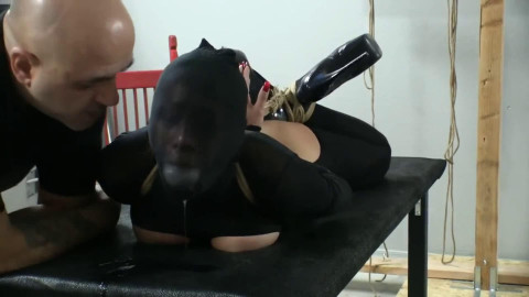 Bondage, hog tie and soreness for concupiscent wench part 2 HD 1080p