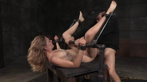 Sexy Mona Wales shackled in classic fuck me position fucked into squirting orgasms (2015)