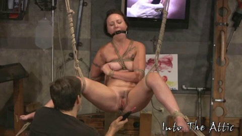 Restraint bondage, strappado, spanking and torment for undressed angel part THREE