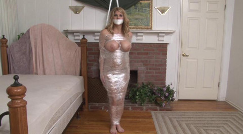Bound and Gagged - Topless Mummification for Carissa Montgomery