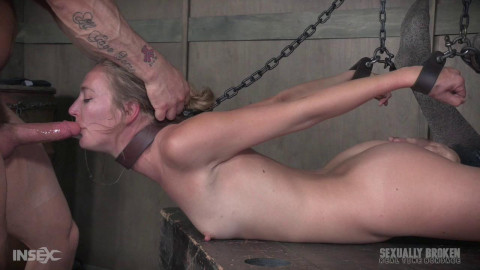 Mona Wales Part 3 Skinny blonde hogtied face fucked, deepthroated squirting orgasms! (2017)