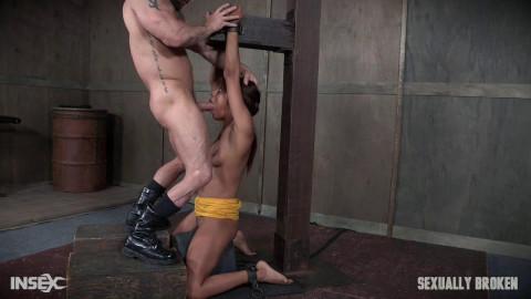 SexuallyBroken - Verta - Verta is bound down hard and fucked harder