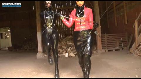 Mistress Sandra and Anna Rose Bridled